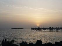 Crystal河墨西哥湾太阳集合 库存照片