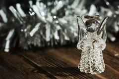 Crystal ängel nytt år för garnering Julprydnader, christ Arkivfoton