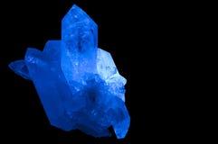 Crystal#1 die op zwarte wordt geïsoleerd Stock Foto's