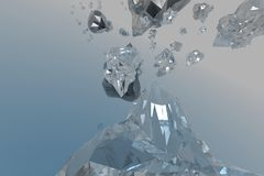 Crystal. 3d computer generated royalty free illustration