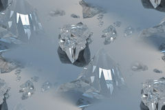 Crystal. 3d computer generated vector illustration