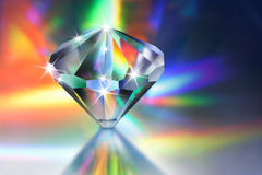Crystal. Clear crystal reflecting spectral light royalty free stock images