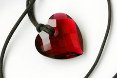Crystal. Gift in the form of heart Stock Photography