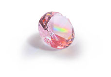 Crystal. The pink crystal located on a white background Royalty Free Stock Image