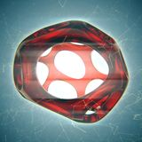 Crystal abstract. Jewelry concept. 3D rendering Stock Photo