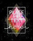 Crystal Abstract Leaflet Design. Gem in cosmic style colorful broadsheet. Vector design Royalty Free Stock Photography