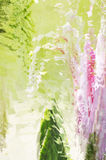 Crystal Abstract Palace. Vibrant Crystal Abstract Palace Background stock illustration