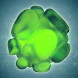 Crystal Abstract Smyckenbegrepp Arkivfoton