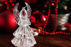 Crystal Angel. new Year decoration. Christmas ornaments, christm Royalty Free Stock Photography