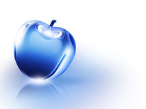 Crystal Apple. Crystalline blue apple on a white background Stock Images