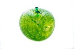 Crystal apple. Green crystal apple on a white background Royalty Free Stock Images