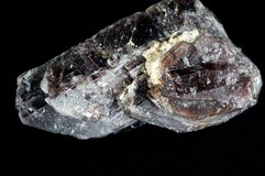 Crystal of axinite. Crystal of rare mineral axinite Stock Images