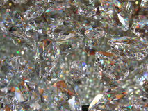 Crystal background. Crystals attached to a glass (background Royalty Free Stock Photography