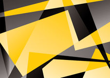 Crystal background. Illustration of colored crystal background with yellow and black gradient elements Stock Photo