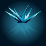 Crystal Background. Light Blue Crystal Background Design Stock Photos