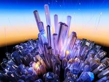Crystal Background Image libre de droits