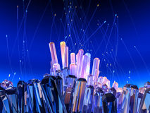 Crystal background Stock Image