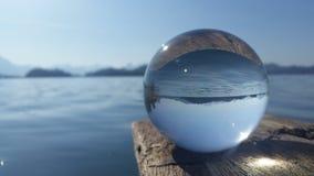Crystal bal on lake Royalty Free Stock Photography