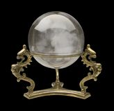 Crystal Ball. Against a black background. Isolation is on a transparent layer in the PNG format royalty free stock photos