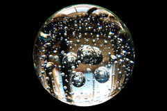 Crystal Ball. On dark background stock photography