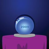 Crystal ball. Illustration of a crystal ball with the year 2009 inside it Stock Photo
