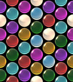 Crystal ball array pattern color Royalty Free Stock Photography