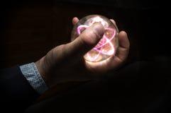 Crystal Ball Atom Fotografering för Bildbyråer