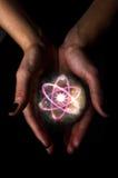 Crystal Ball Atom Stock Image