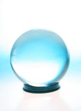 Crystal ball with blue Stock Photos