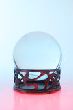 Crystal ball blue and red. Crystal ball blue light above and red light below Royalty Free Stock Photography
