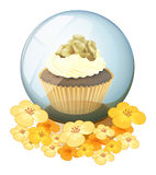 A crystal ball with a cake Stock Image