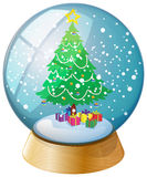 A crystal ball with a Christmas tree Royalty Free Stock Images