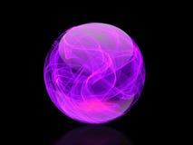Crystal Ball Colorful elegante en fondo abstracto Imagen de archivo