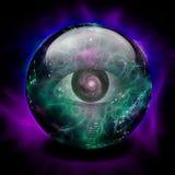 Crystal Ball con el ojo Fotos de archivo