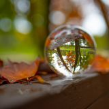 Crystal Ball do fotógrafo - queda foto de stock royalty free