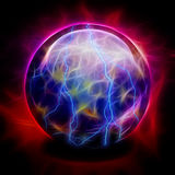 Crystal Ball. With Electric Charges Royalty Free Stock Photos