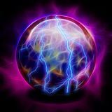 Crystal Ball. Electric in Vivid Hues Stock Photo