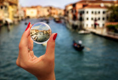 Crystal Ball en Venecia Fotos de archivo