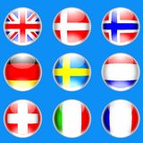 Crystal Ball Flags Royalty Free Stock Photo