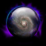 Crystal Ball. With Galaxy and Eye Royalty Free Stock Photos