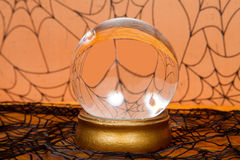 Crystal Ball. A glass crystal ball for the Halloween holiday stock photography