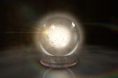 Crystal Ball Glowing Lizenzfreies Stockbild