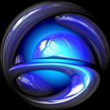 Crystal ball glowing blue Royalty Free Stock Photography