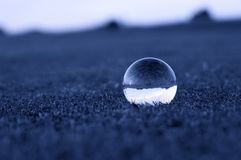 Crystal ball on grass Royalty Free Stock Photo
