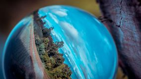 Crystal Ball With Green Field photos libres de droits