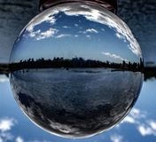 Crystal ball landscape stock photography