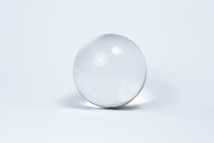 Crystal Ball Marbles glass. Transparent on white background Stock Photos