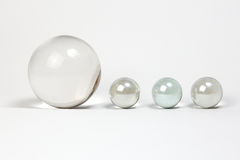 Crystal Ball Marbles Stock Photos