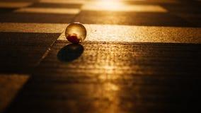 Crystal Ball no nascer do sol do horizonte do quadrado da plaza fotos de stock royalty free