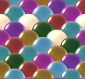 Crystal ball overlap pattern color Royalty Free Stock Photos